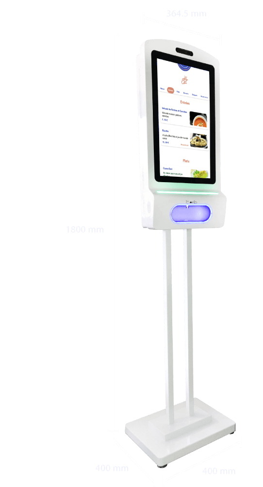 Borne sur pied écran tactile 15 pouces - Infinity Scan